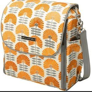 Petunia Pickle Bottom Orange Flower Daydreaming Dax Backpack Diaper Bag